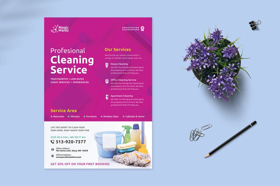 Professional Cleaning Services Ad Flyer