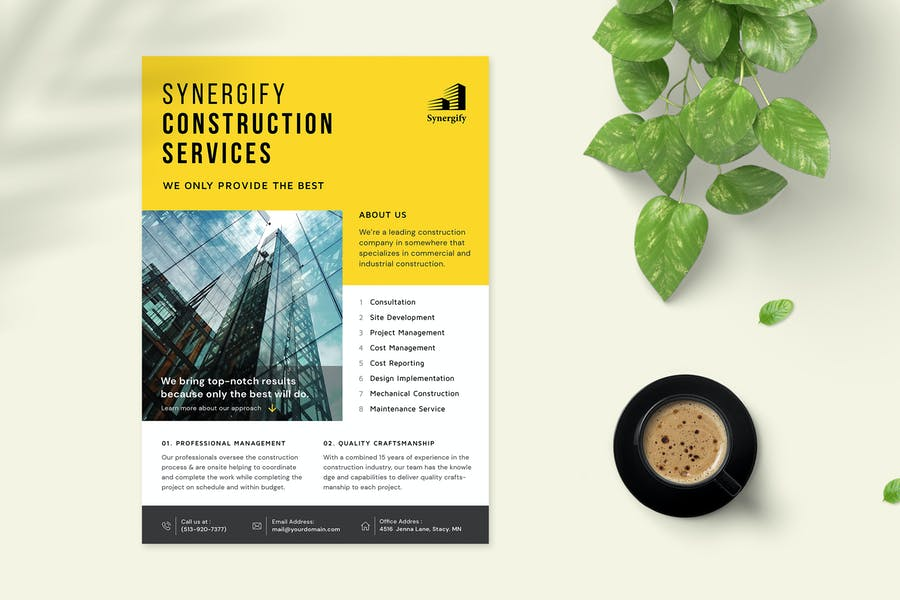 Professional Construction Ad Flyer