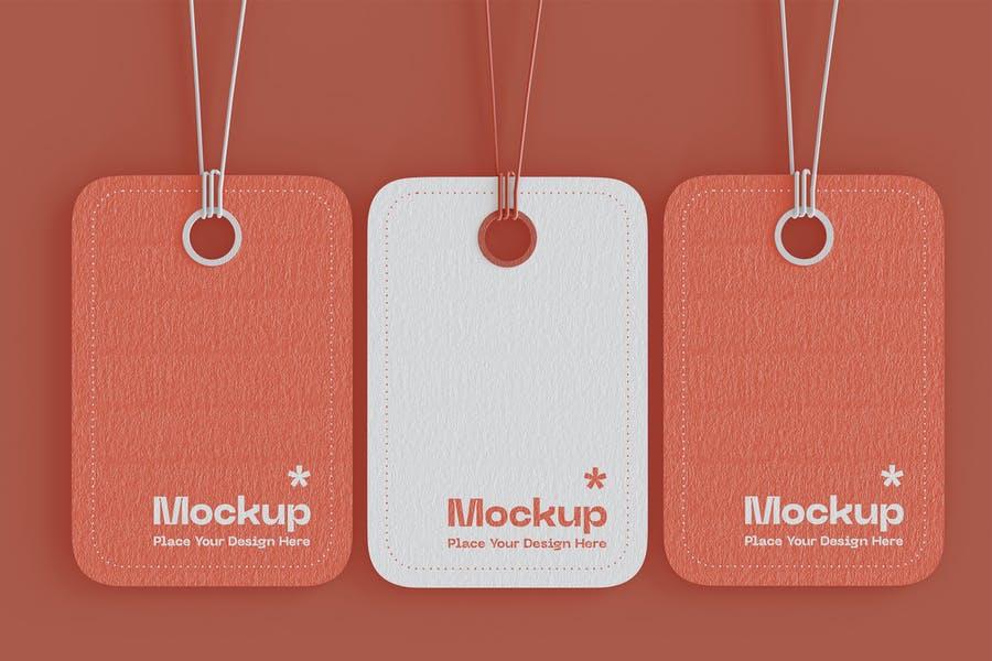 Professional Hanging Tags Mockup