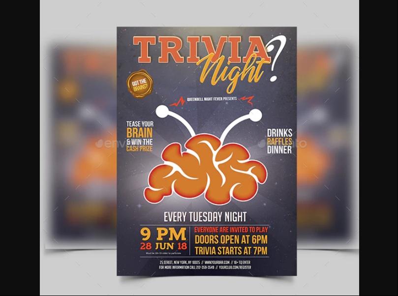Professional Quiz Night Flyer