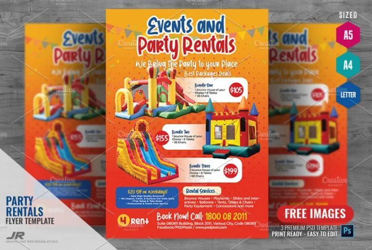 Professional Rentals Marketing Flyer