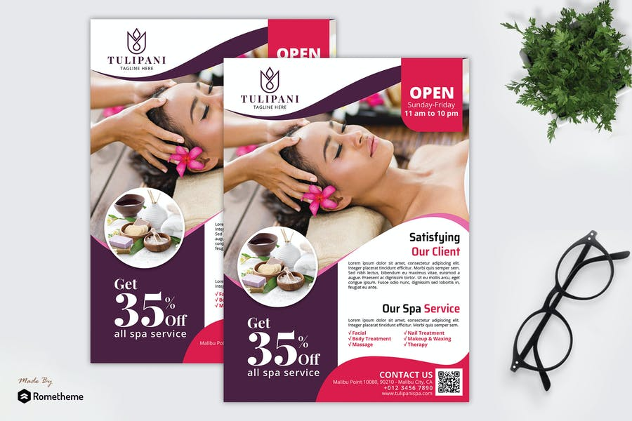 Professional Spa Poster Design