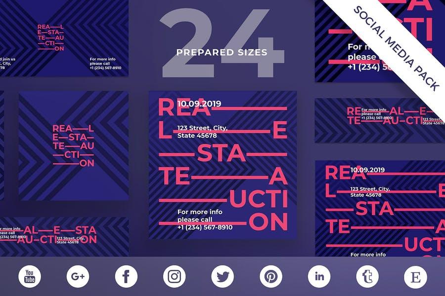 Real Estate Auction Social Media Kit