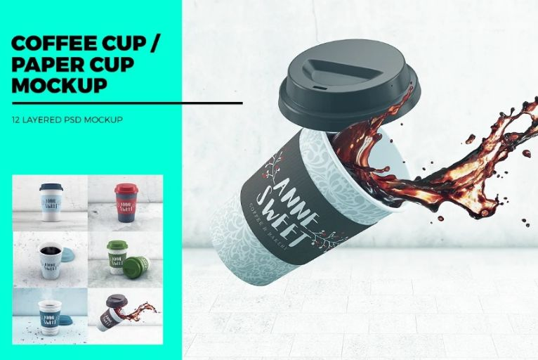 Realistic Coffee Cup Branding Mockup