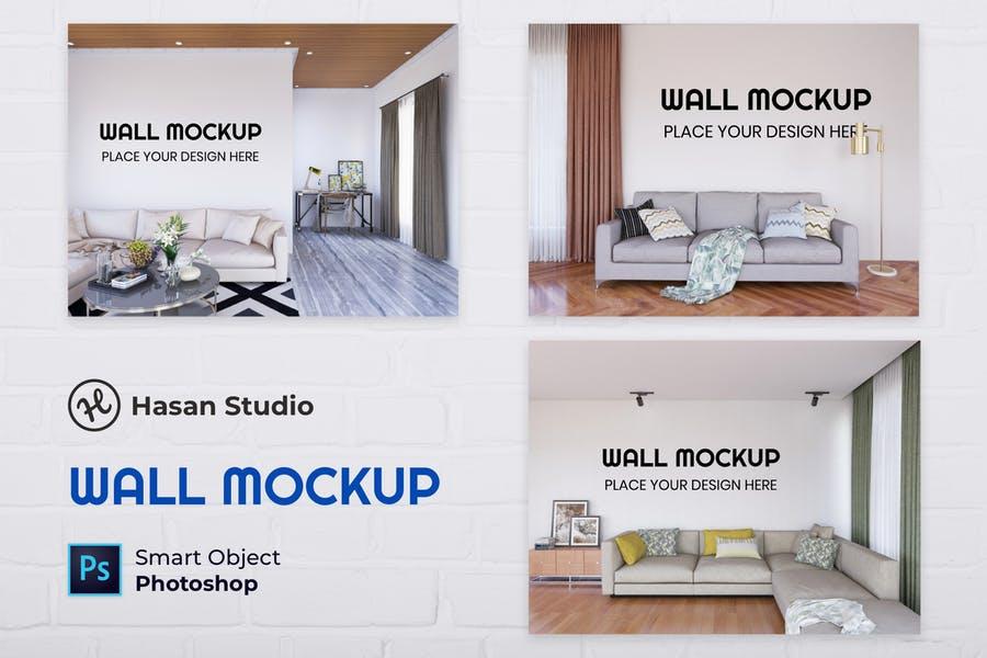 Realistic Interior Scene Mockup PSD