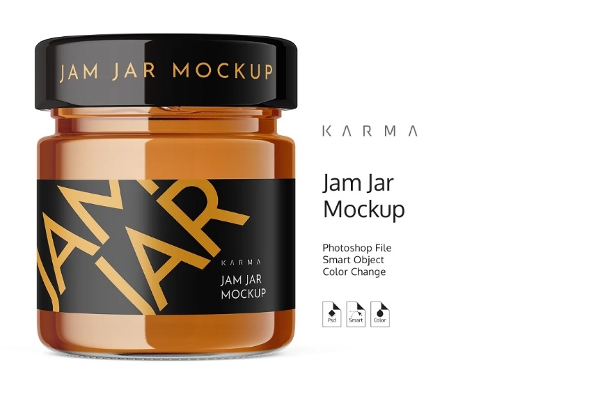 Realistic Jam Container Mockups