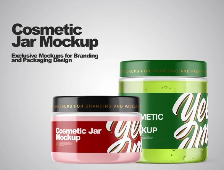 Realistic Jar Branding Mockup