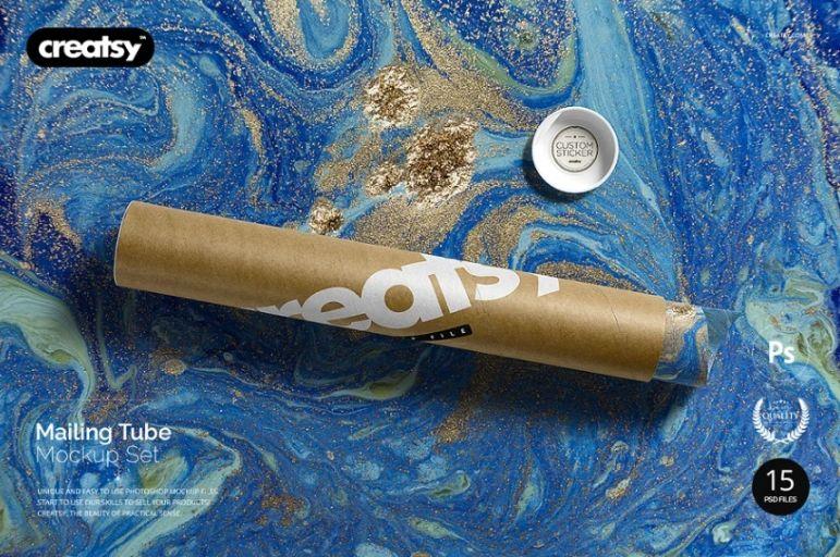 Realistic Tube Packaging Mockup PSD