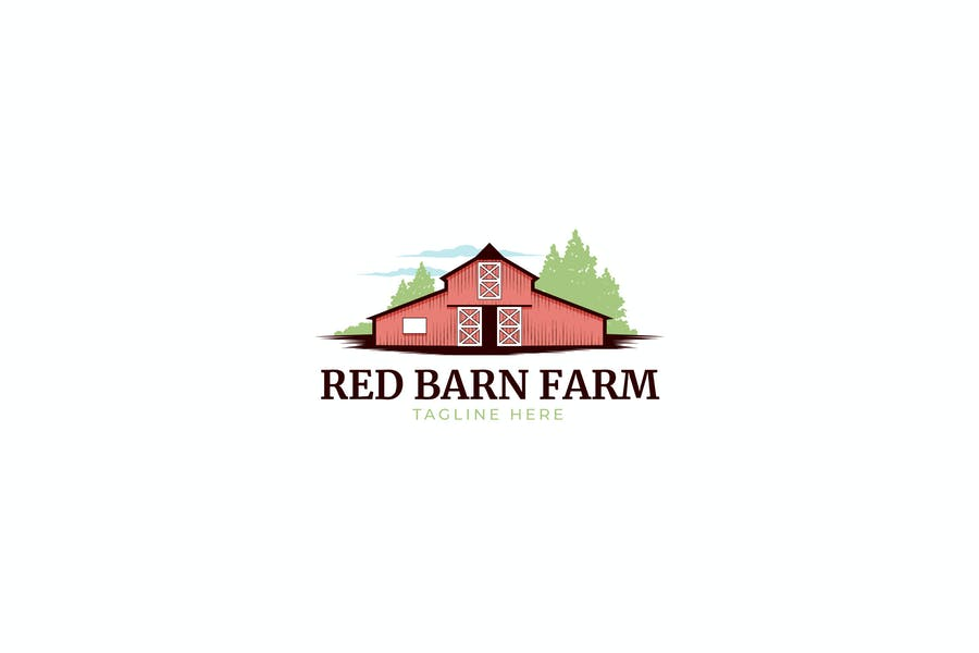 Red Barn Farm Logo Design