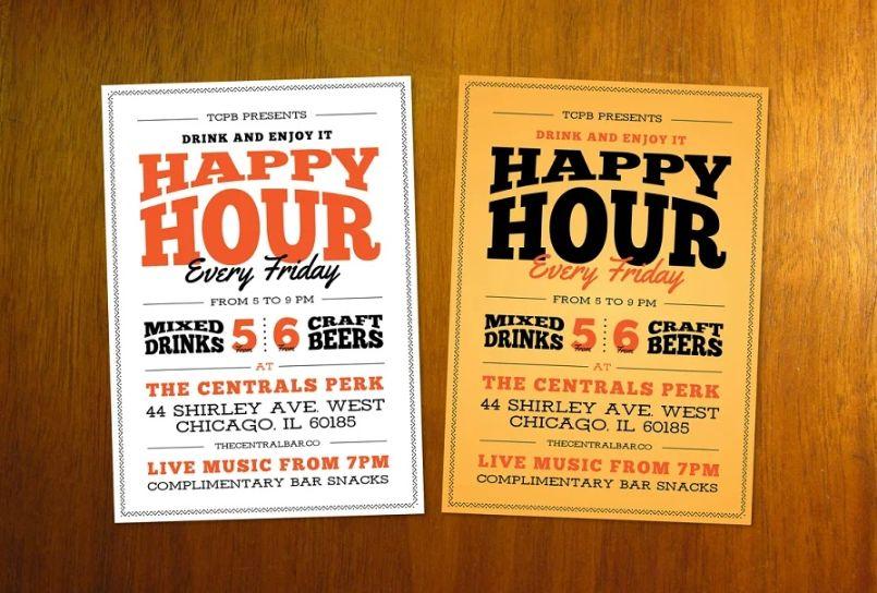 Restaurant Happy Hour Flyers