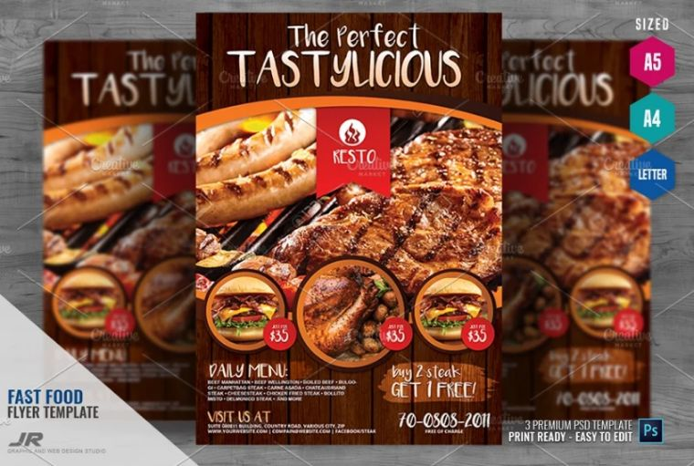 Restaurant and Fast Food Flyers