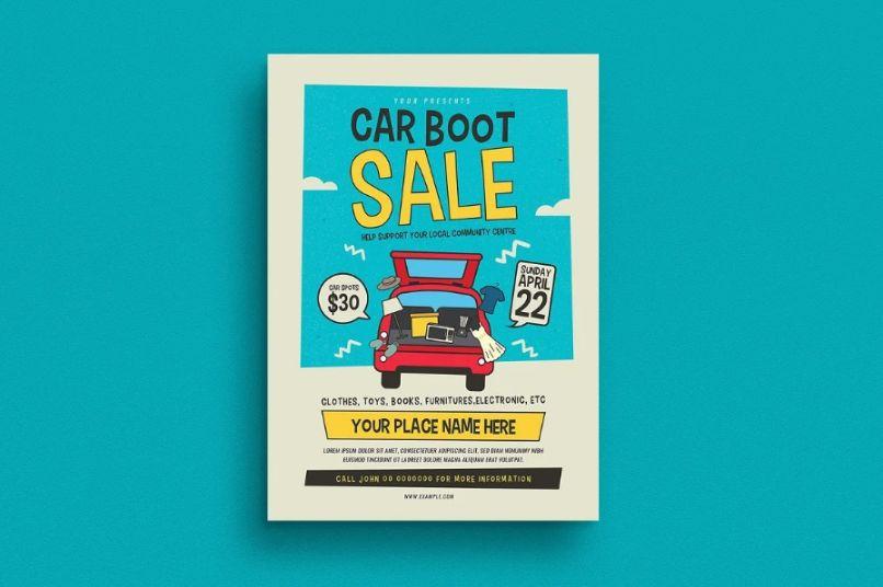Retro Car Boot Sale Flyer Template