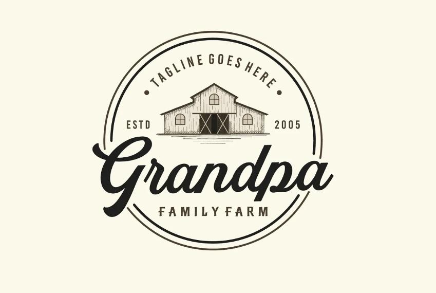 Retro Farm Branding Design