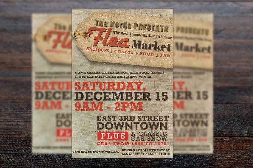 Retro Flea Market Flyers