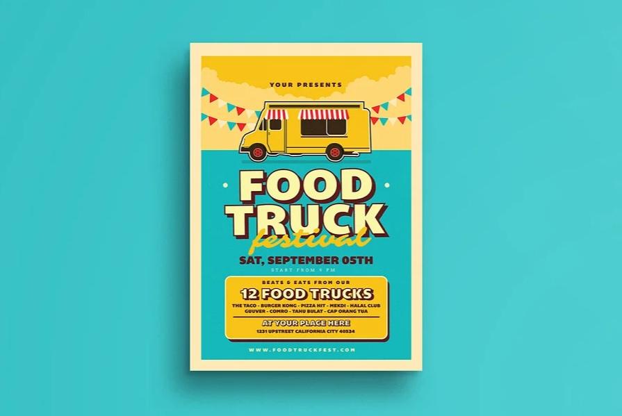 Retro Food Truck Flyers