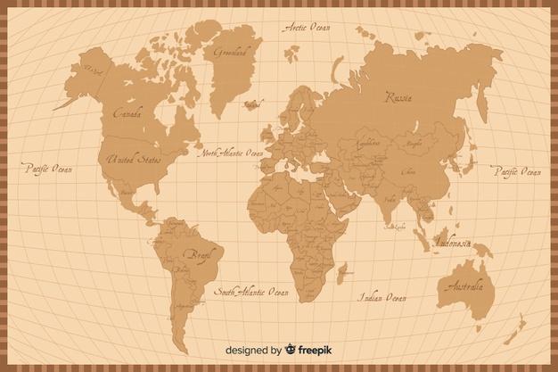 Retro Map Textures