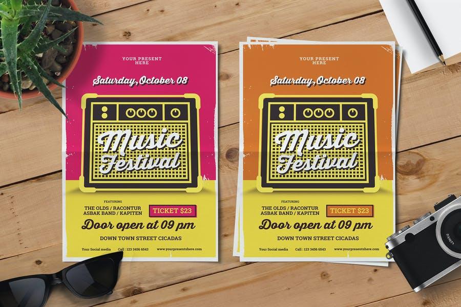 Retro Music Concert Pamphlet