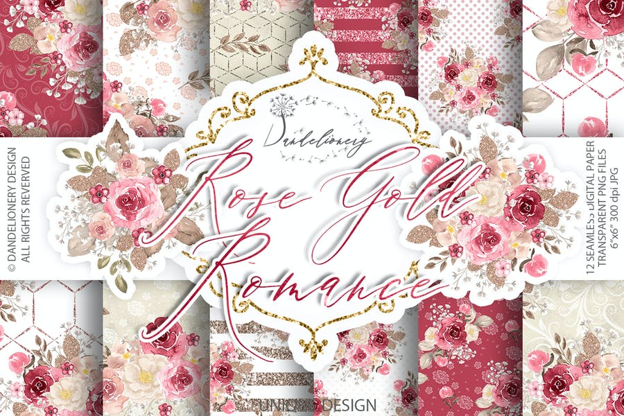 Romantic Texture Backgrounds