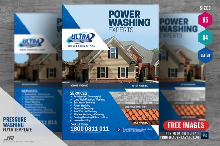 Roof Cleaning Services Flyers