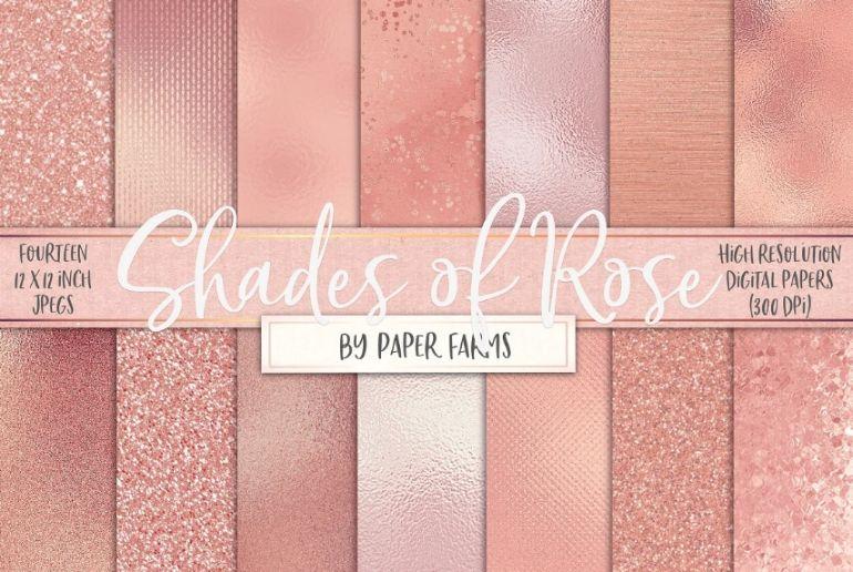 Rose Gold Digital Paper Textures