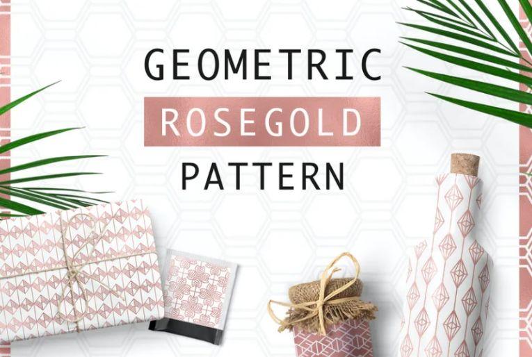 Rosegold Pattern Background