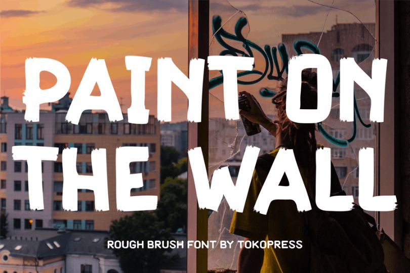 Rough Brush Style Typeface