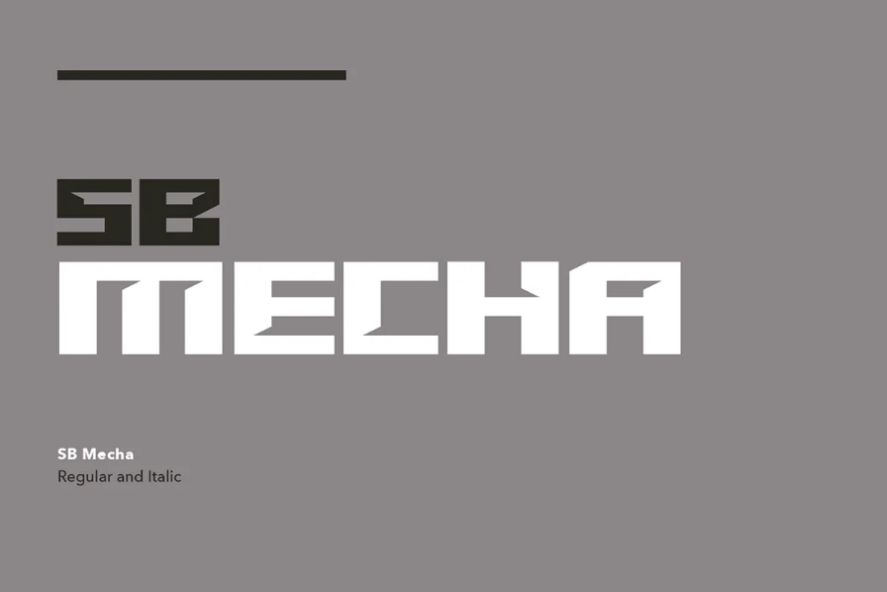 Science Fiction Anime Typeface