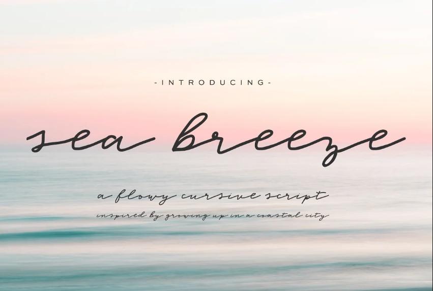 Sea Breeze Signature Fonts
