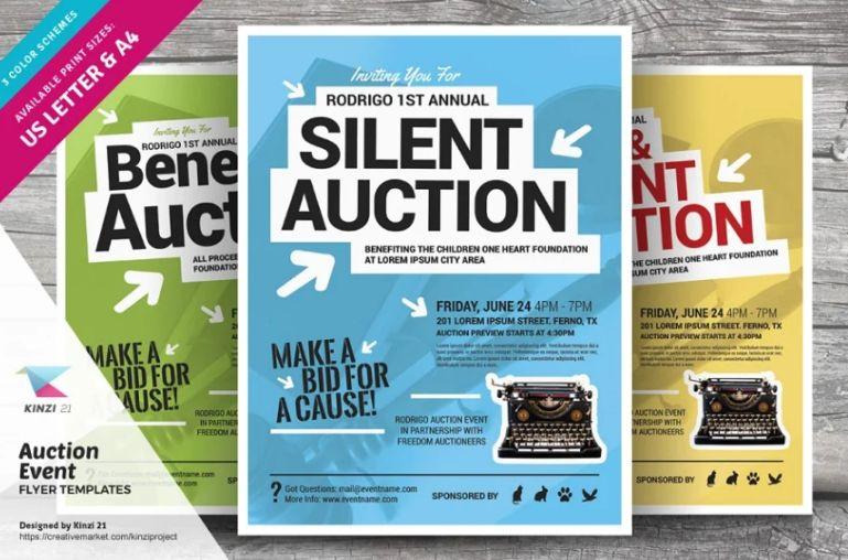 Silent Auction Flyer Design