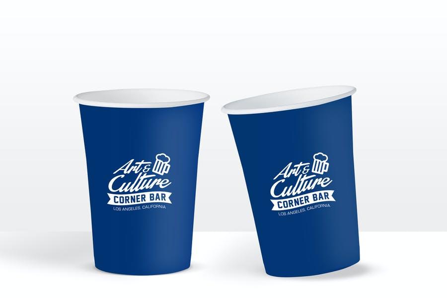 Simple Drink Cup Branding PSD