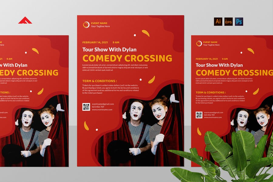 Simple Entertainment Agency Flyer