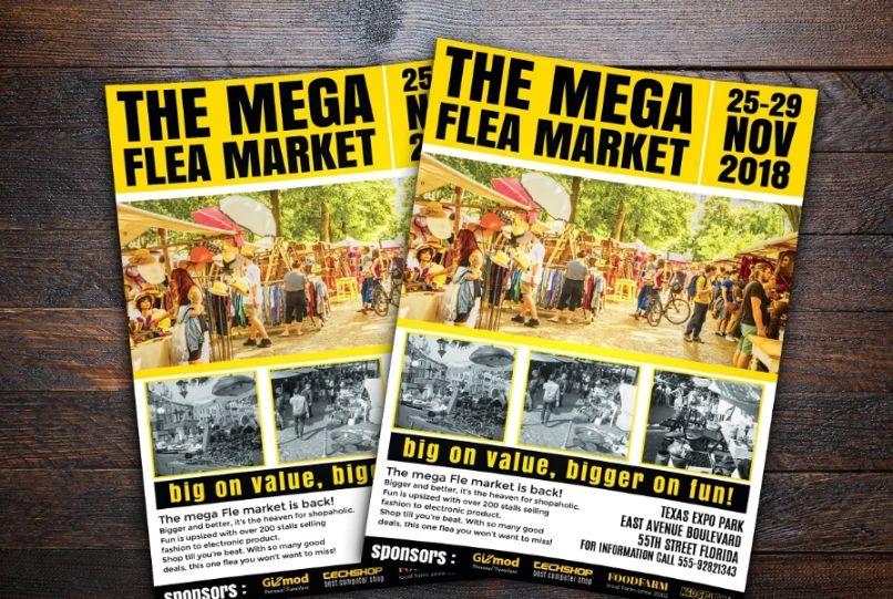 Simple Flea Market Flyer Template