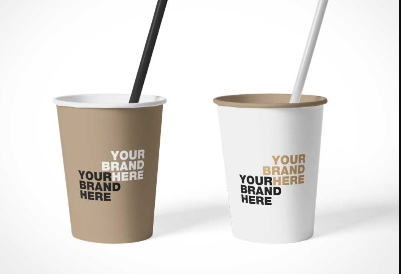 Simple Free Cup Mockup PSD