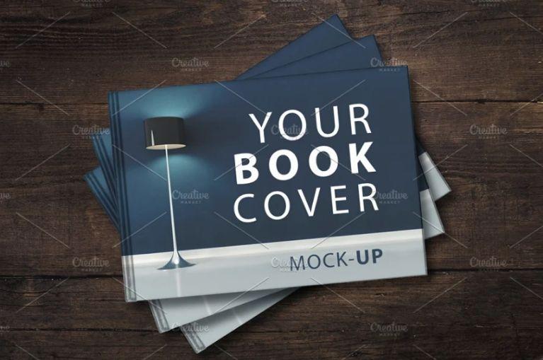 Simple Hardcover Book Mockups