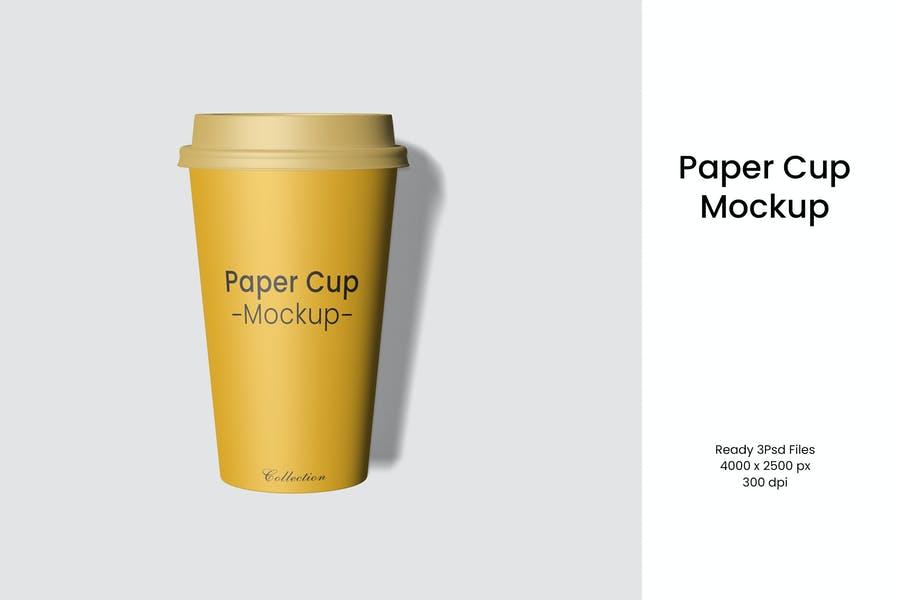 Simple Paper Cup Desihn Mockup