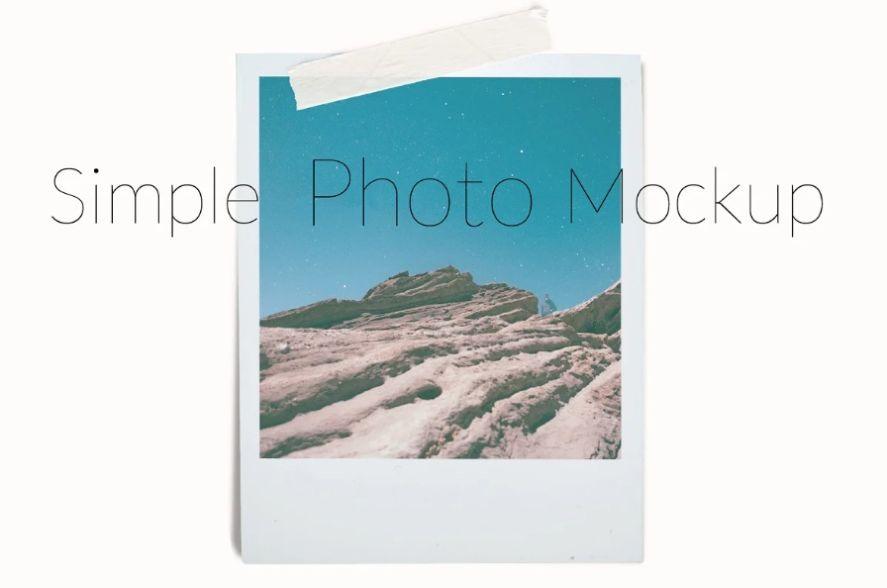Simple Photo PSD Mockup