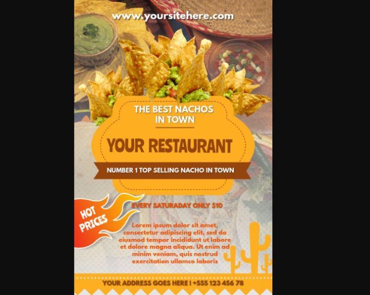 Simple Restaurant Flyer Templates