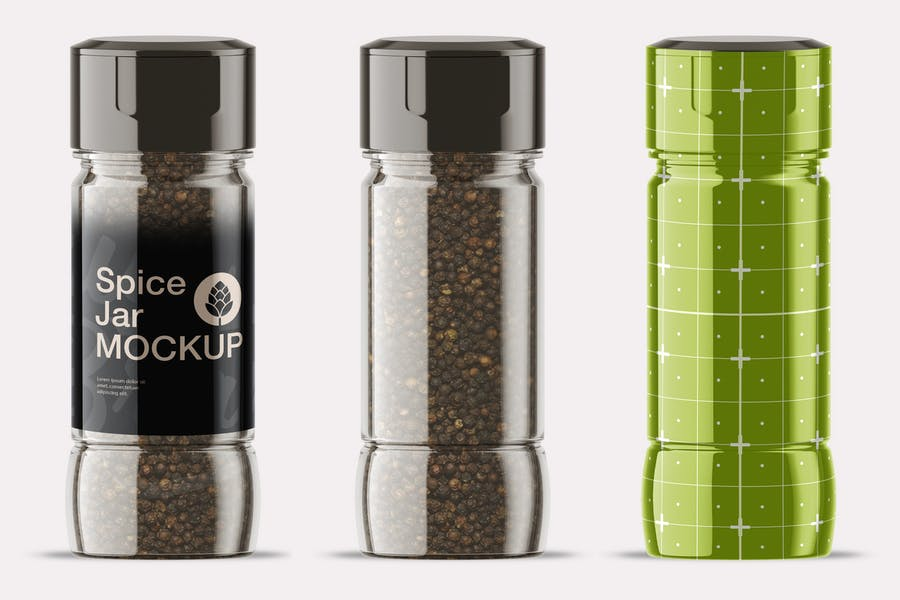 Simple Spice Jar Mockup PSD