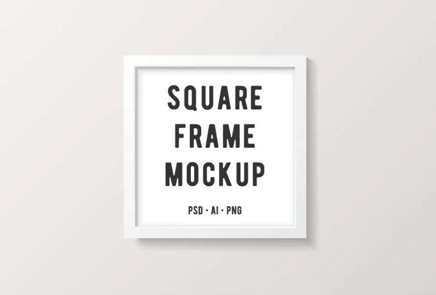 Simple Square Frame PSD Mockup