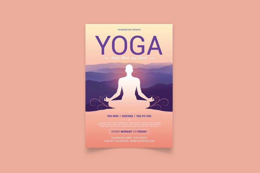 Simple Yoga Flyer Design