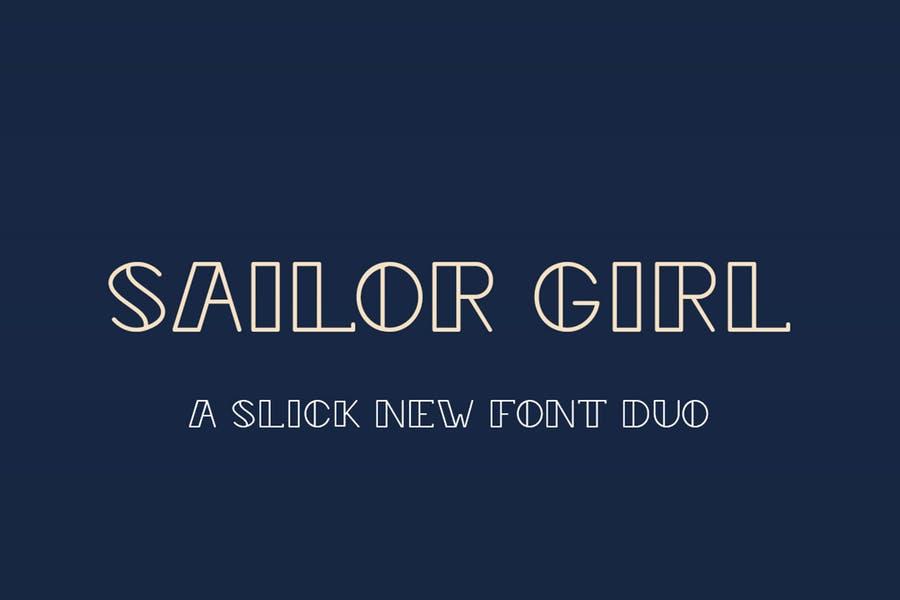 Slick Girly Font Duo
