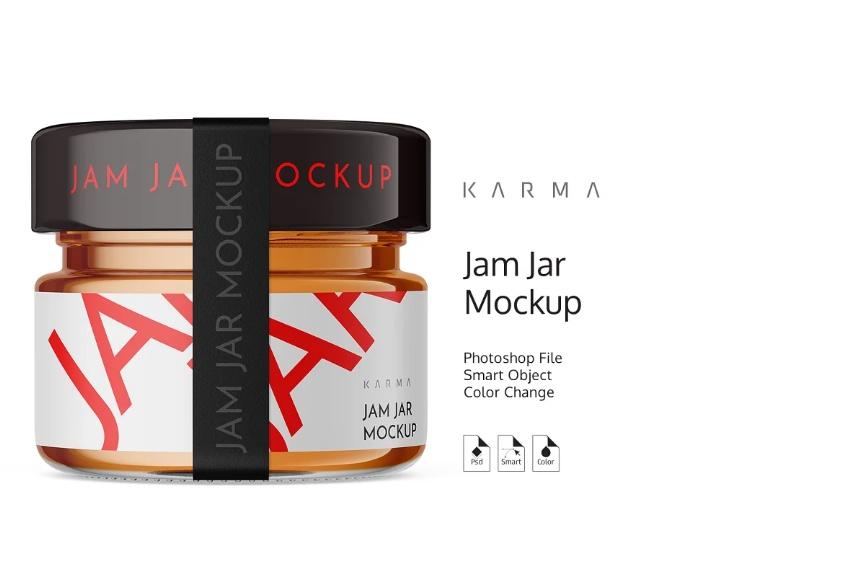 Small Jam Jar Mockups