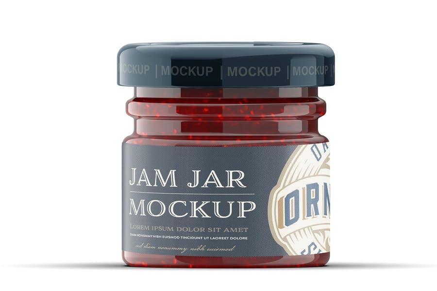 Small Size Jam Jar Mockups