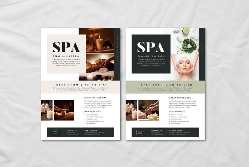Spa Advertisement Flyer Design