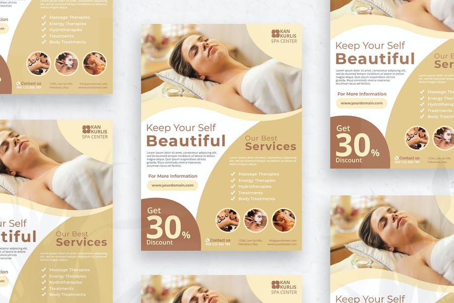 Spa Services Promotional Flyer
