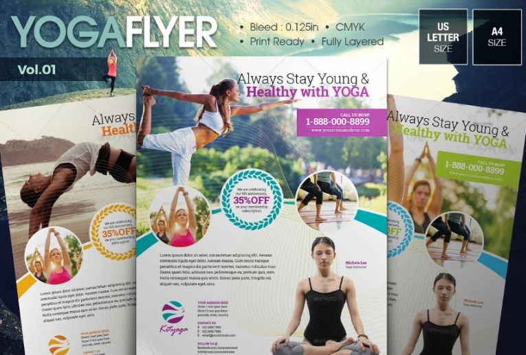 Spa and Gym Flyer Templates