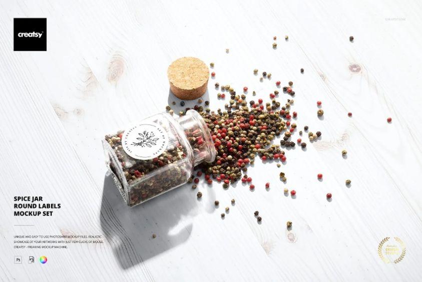 Spice Jar Mockup Set
