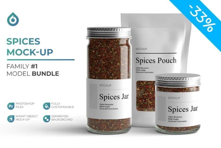Spices Branding Mockup Set