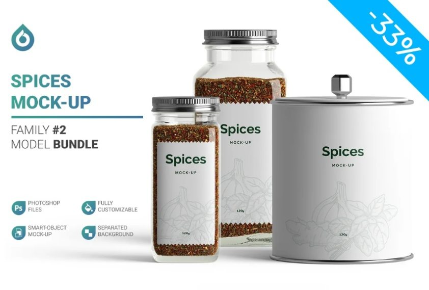 Spices Branding mockup Bundle