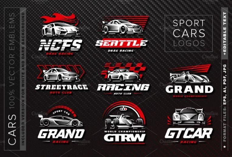 Sports Car Logotype Set